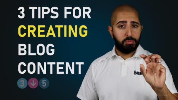 3 tips for Creating Blog Content